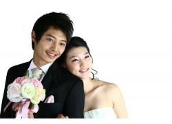新娘靠着新郎PSD素材