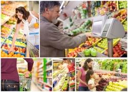 超市购买水果图片素材(5p)