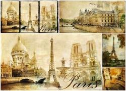 巴黎复古卡片素材(5p)
