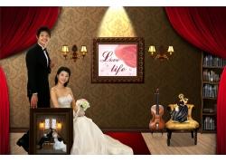 室内婚纱照影楼素材PSD