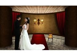 室内浪漫婚礼PSD素材