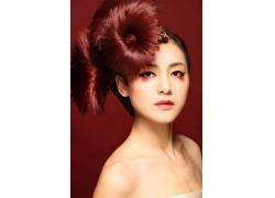 时尚创意发型 彩妆人物