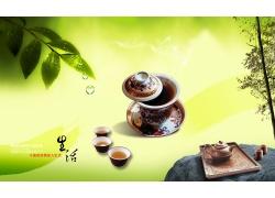 中国茶道PSD素材