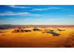 沙漠的黄昏风景图片
