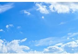 蓝天白云风景素材