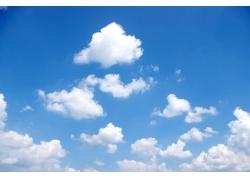 朵朵白云风景图片