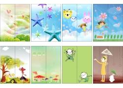 卡通儿童移门图片