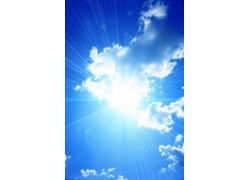 光芒四射的太阳图片素材