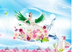 化妆品海报设计PSD素材