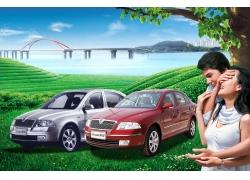 汽车广告设计PSD素材