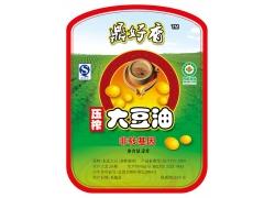 鼎好香豆油商标设计PSD素材