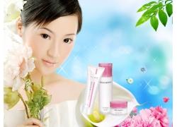 化妆品实用背景PSD素材