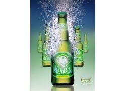 品牌啤酒海报设计PSD素材