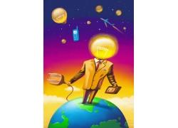 电的世界海报设计PSD素材