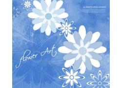 精美艺术花朵背景PSD素材
