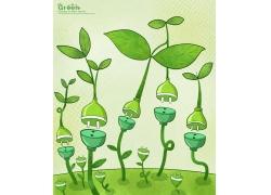 节约电能绿色环保海报设计