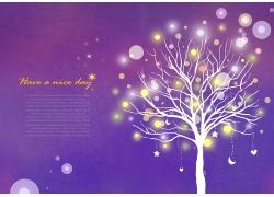 梦幻紫色背景PSD素材