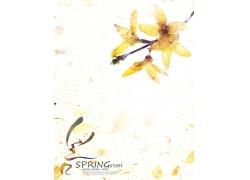 春天背景模版PSD素材
