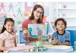 老师和学生的高清素材