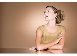 外国微笑女人发型设计高清图片