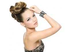外国美女发型设计高清图片