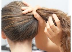 模特塑造发型高清图片