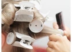 欧美模特时尚发型塑造高清图片