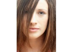 靓丽模特的发型高清图片