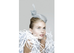 碎纸屑美女发型设计高清图片