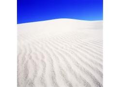 蓝天和白沙风景图片