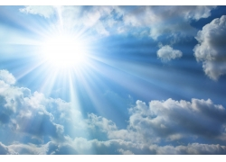 蓝天阳光白云高清图片