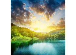 美丽的湖光山色自然风景图片