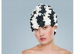 黑白花相见美女发型设计高清图片
