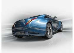 蓝色豪华跑车高清图片