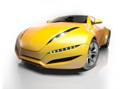 黄色跑车高清图片