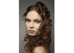 外国美女时尚发型设计图片素材