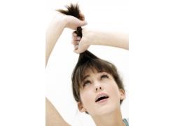 塑造发型的性感模特高清图片