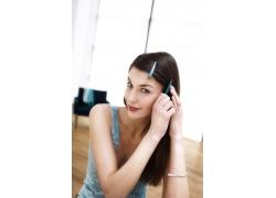 美女模特柔顺发型高清图片素材