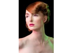 化妆外国性感美女发型设计高清图片