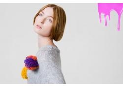 外国魅力女人发型设计图片素材