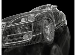 3D汽车模型特写高清图片