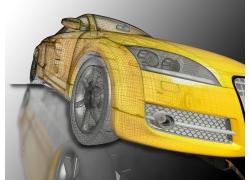 3D汽车模型设计图高清图片
