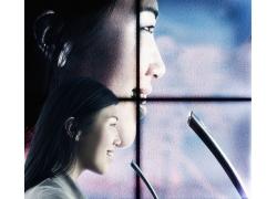 未来科技与女性客服高清图片