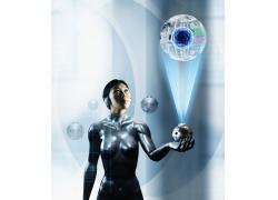 机器人与高科技产品高清图片
