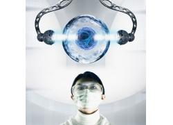 研究高科技产品的科学家高清图片