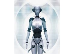 未来高科技女机器人高清图片
