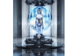 高科技女性机器人高清图片