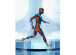 奔跑的男人科技海报高清图片