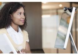 非洲卷发商务女士高清图片