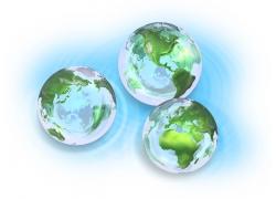 透明水晶地球高清图片